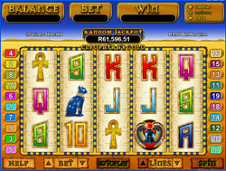 Cleopatra's Slot - Win 15 Free Games at 3x Multiplier. The Free Games can be re triggered and a Random Mystery Bonus Jackpot can be won at anytime regardless of the combination on the screen