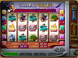 Diamond Valley progressive Slot